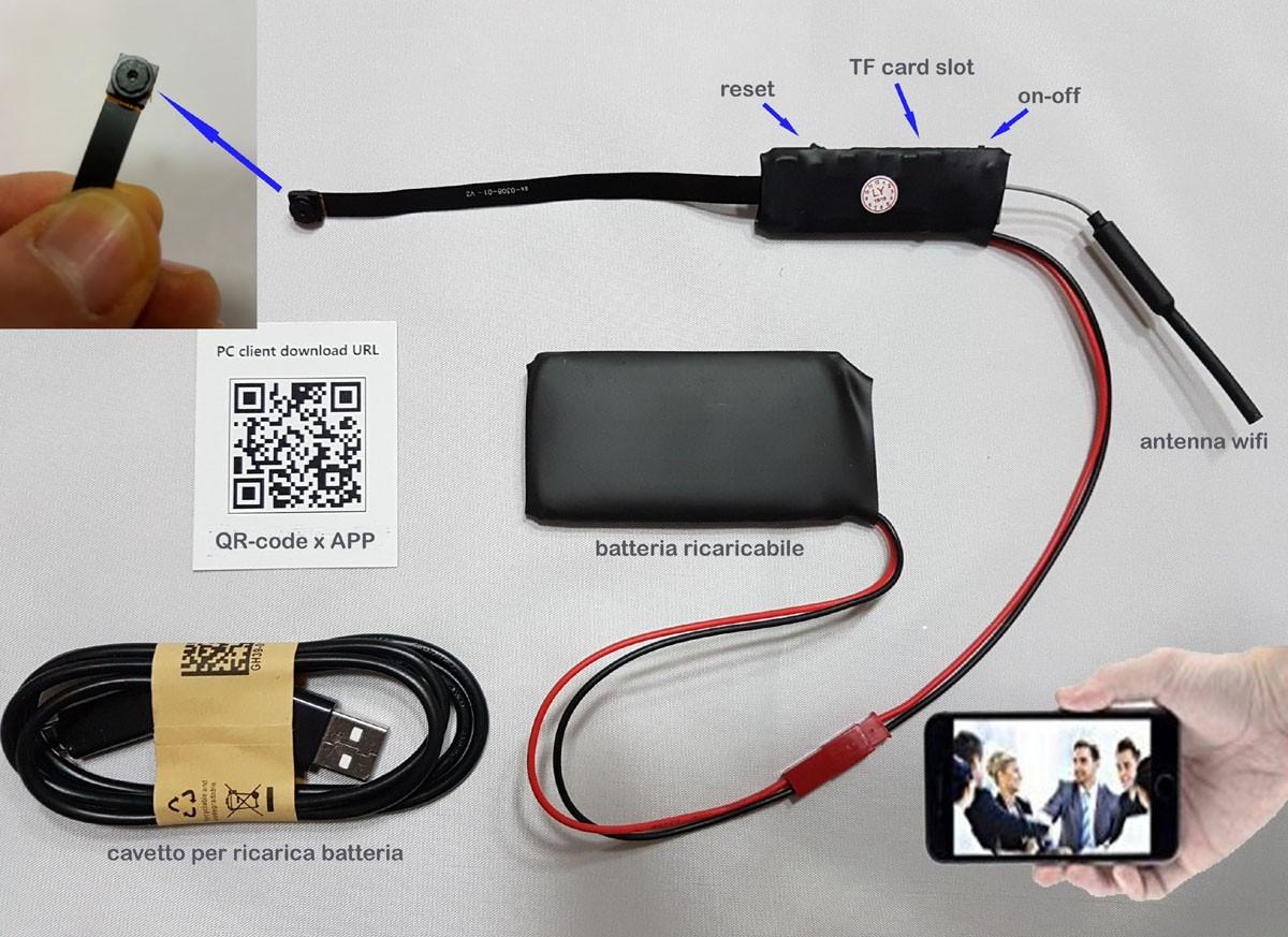 Telecamera Nascosta In Oggetti : Spy camera spia micro full hd infrarossi telecamera nascosta